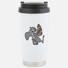 Squirrel with Lots of Nuts Travel Mug