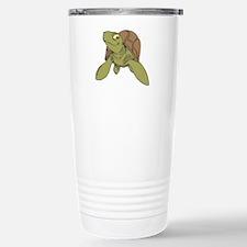 Grinning Sea Turtle Travel Mug