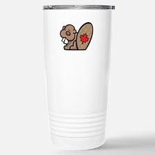 Cute Canadian Beaver Travel Mug