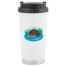 Silly Platypus in the Water Travel Mug