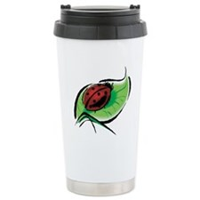 Ladybug on a Leaf Travel Mug