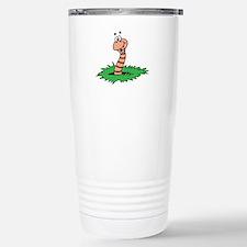Happy Smiling Earthworm Stainless Steel Travel Mug