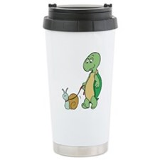 Turtle With Pet Snail Travel Mug