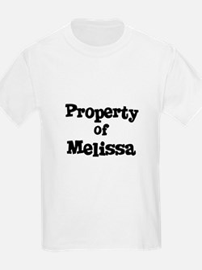 Property of Melissa Kids T-Shirt