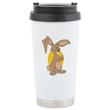 Goofy Long Eared Rabbit Travel Mug