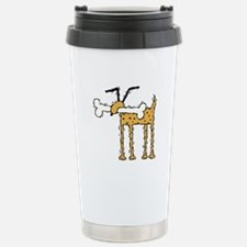 Silly Dog with Bone Stainless Steel Travel Mug