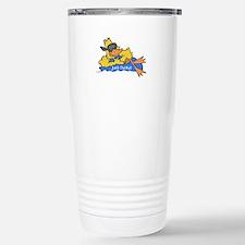 Ducky on a Raft Travel Mug