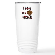 Love Vizsla Travel Mug