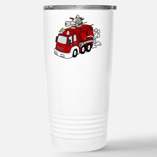 Fire Truck Stainless Steel Travel Mug