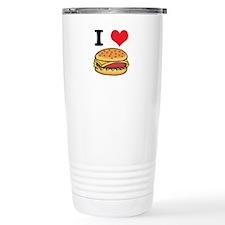 I Heart (Love) Cheeseburgers Travel Mug