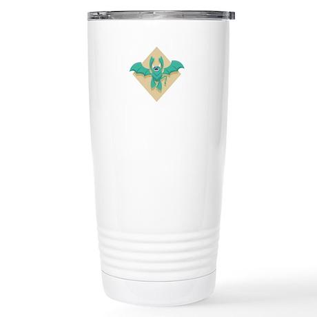 Gargoyle Bat Stainless Steel Travel Mug