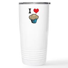 I Heart (Love) Muffins Travel Mug