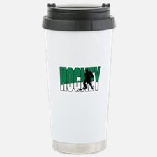Hockey Graphic Stainless Steel Travel Mug