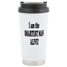 Smartest Man Alive Travel Mug