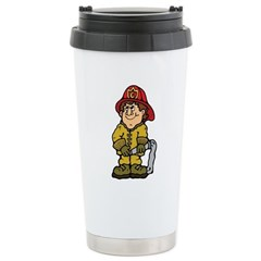 Happy Little Fireman Travel Mug