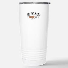 Funny Bite Me Fishing Lure Travel Mug