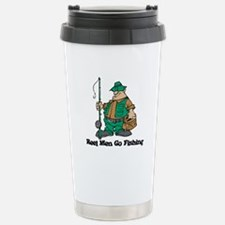Reel Men Go Fishing Travel Mug