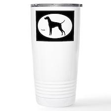 Vizsla Silhouette Travel Mug