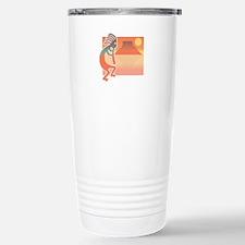 Kokopelli with Scenic Backgro Travel Mug
