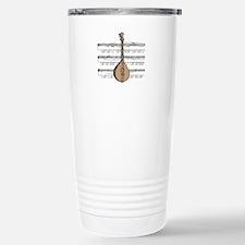 Mandolin and Sheet Music Desi Travel Mug