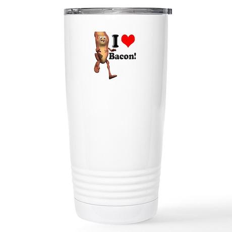 I Heart (Love) Bacon Stainless Steel Travel Mug