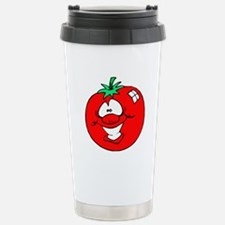 Happy Tomato Face Stainless Steel Travel Mug