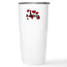 I Love Ketchup Travel Mug