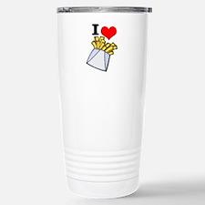 I Heart (love) French Fries Travel Mug