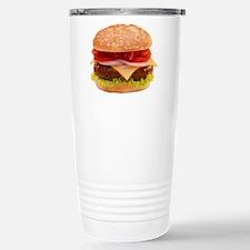 yummy cheeseburger photo Travel Mug