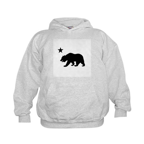 California Bear Flag (black) Kids Hoodie