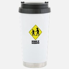 Beware of Sasquatch Stainless Steel Travel Mug