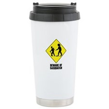 Beware of Sasquatch Travel Coffee Mug