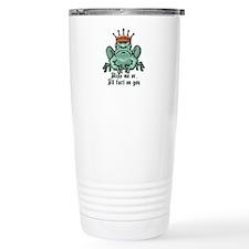 Kiss Me or I'll Fart Frog Travel Mug