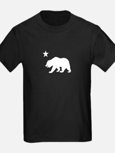 California Bear Flag (white) T
