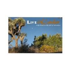 Live Adventure Joshua Tree Rectangle Magnet