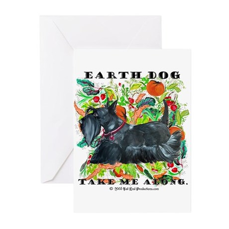 Eco Friendly Scottish Terrier Greeting Cards (Pk o