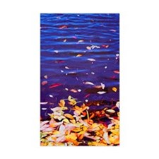 Leaves on Water Rectangle Decal