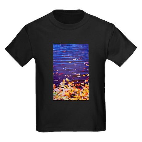 Leaves on Water Kids Dark T-Shirt