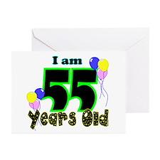55th Birthday Greeting Cards (Pk of 10)