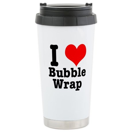 I Heart (Love) Bubble Wrap Stainless Steel Travel