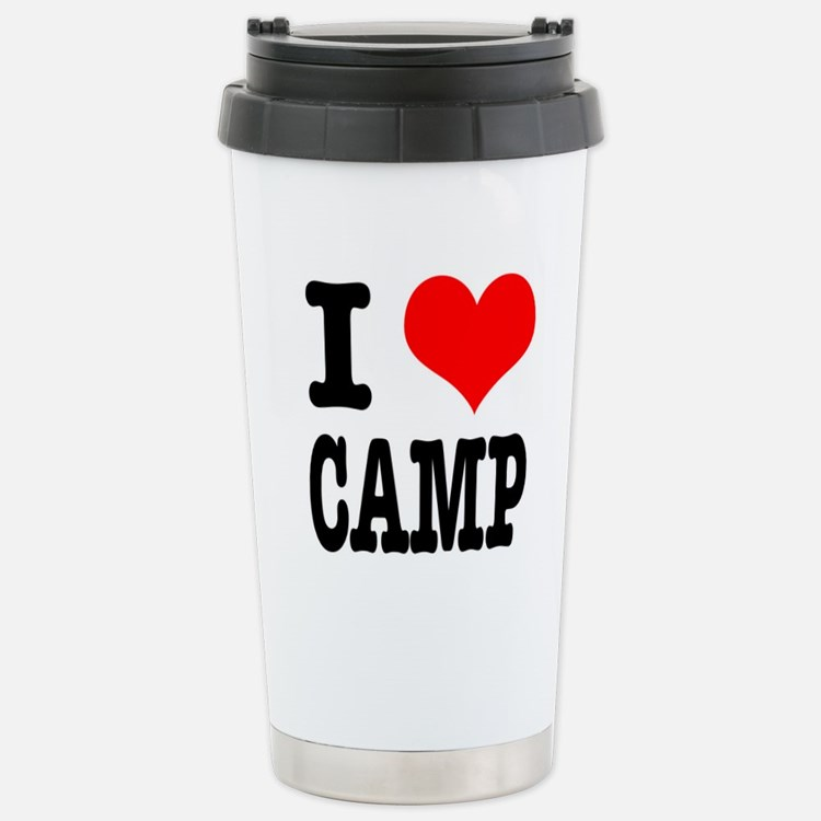 I Heart (Love) Camp Travel Mug