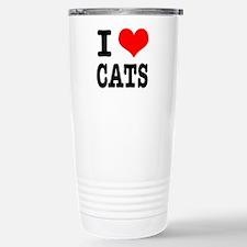 I Heart (Love) Cats Travel Mug