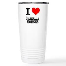 I Heart (Love) Charlie Horses Travel Mug
