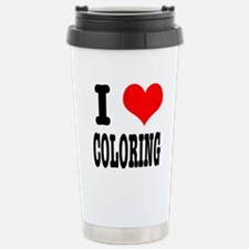 I Heart (Love) Coloring Travel Mug