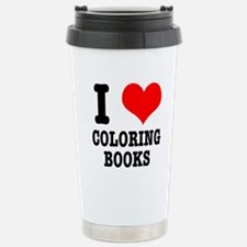 I (Heart) Love Coloring Books Travel Mug