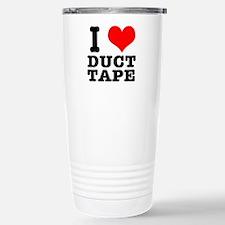 I Heart (Love) Duct Tape Travel Mug