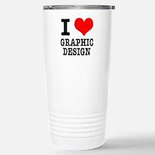 I Heart (Love) Graphic Design Stainless Steel Trav