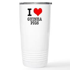 I Heart (Love) Guinea Pigs Travel Mug