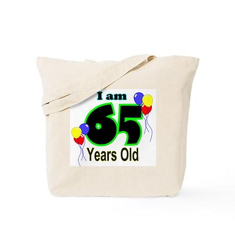 65th Birthday Tote Bag