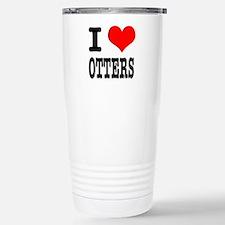 I Heart (Love) Otters Travel Mug